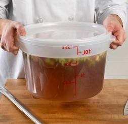 6-Pack Round Translucent Commercial Grade Kitchen Food Stora