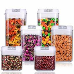 6-Piece Airtight Food Storage Containers Set Clear Container