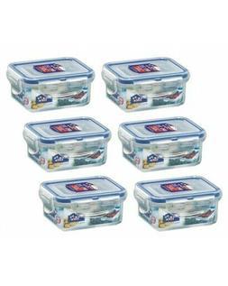 6 x Lock & Lock Rectangular 180ml Food Container HPL805