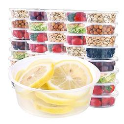 60pack 10oz food storage containers with lids