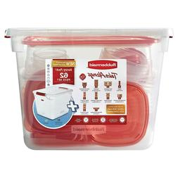 62 pc Rubbermaid TakeAlongs Food Storage Container Set Kitch