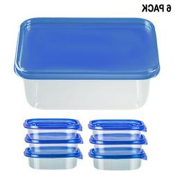 6PK Food Storage BPA Free Plastic Container Meal Prep Freeze