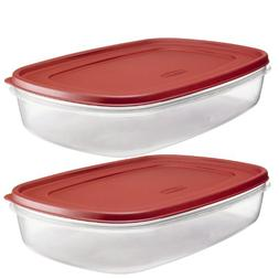 Rubbermaid - 7J76 Easy Find Lid Rectangle 24-Cup Food Storag
