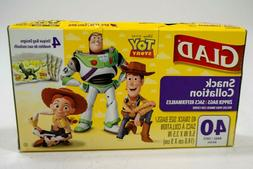 80 Count Glad Zipper Food Storage Bags Disney Toy Story Sand