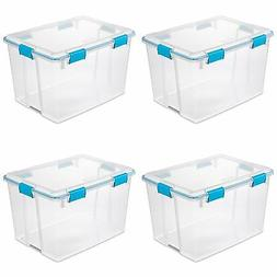 Sterilite 80 Quart Plastic Home Storage Gasket Box Container