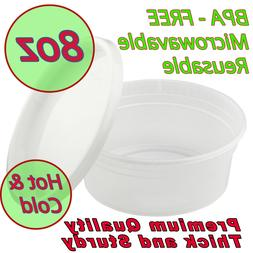8oz Food Storage Meal Prep Deli Container Premium Heavy Duty