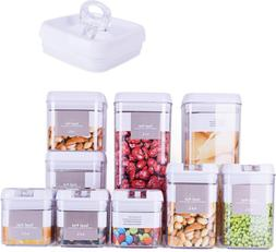 DRAGONN 9 Piece Airtight Food Storage Container Set with Lab