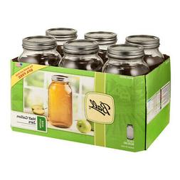 Ball Wide Mouth Half Gallon 64 Oz Jars with Lids and Bands,