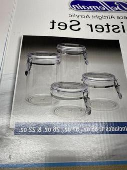 Bellemain 4 Piece Airtight Acrylic Canister Set, Food Storag
