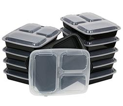 A World Of Deals Meal Containers, 3 Compartment Stackable Pl