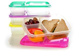 EasyLunchboxes 3-Compartment Bento Lunch Box Containers, Set