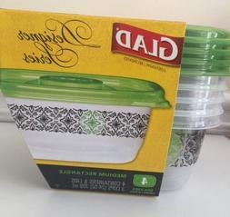 Glad Designer Series Plastic Containers And Lids Medium Rect