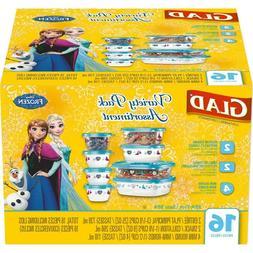 Glad Variety Pack Assortment Disney Frozen Food Storage Cont