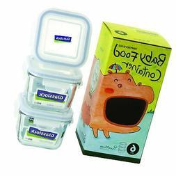 Glasslock 6-Piece Square Baby Box Set, Mini