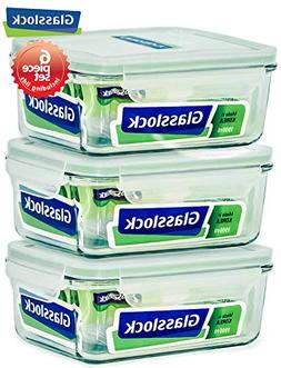 Glasslock Food-Storage Container with Locking Lids Oven and