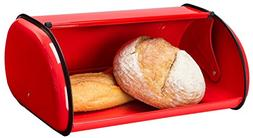 Greenco Stainless Steel Bread Bin Storage Box, Roll up Lid