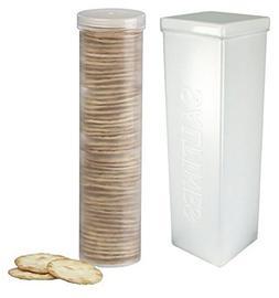 Home-X Set of 2 - Saltine Cracker Sleeve Storage Container /