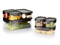 LOCK & LOCK PREMIUM, 14-Piece Set, Crystal Clear, BPA Free,