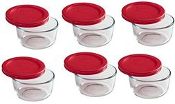 Pyrex 6-Piece Glass Food Storage Set with Lids