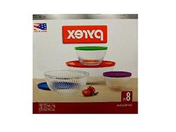 Pyrex 8-piece 100 Years Glass Mixing Bowl Set  - Assorted Co