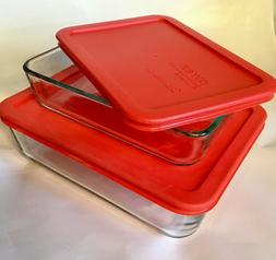 Pyrex Simply Store 6-Cup Rectangular Glass Food Storage