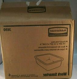 Rubbermaid - 3690-WHT - 11qt. Food/tote Box White 12-3/8x14-