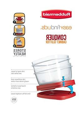 Rubbermaid 7J66 608866900504 Easy Find Lid Square 5-Cup Food