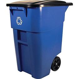 Rubbermaid Commercial Products BRUTE Rollout Wheeled Recycli