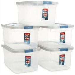 Rubbermaid Roughneck Clear Storage Container, 50 qt., Clear