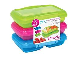 Sistema Lunch Collection Split Food Storage Containers, 1.5