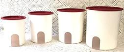 TUPPERWARE ONE TOUCH REMINDER 4-PC. CANISTER SET/POPSICLE WI