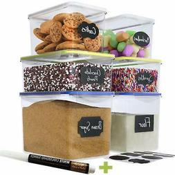 A Food Storage Containers, Kitchen Organization, Airtight,