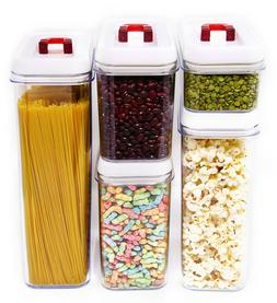 Air-Tight Food Storage Container Set - Pantry Organizing Con