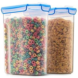 Airtight Cereal Containers Storage Set - 2-Pack  With Silico
