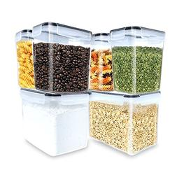 Inout airtight container set of 6,Tall Large Food Storage Su