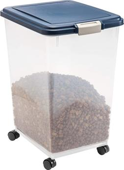 Airtight Food Storage Container Pet Rolling Box Portable Whe