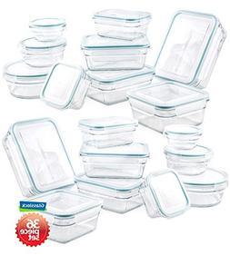 Airtight Food Storage Container Glasslock 36pc Set Anti-Spil