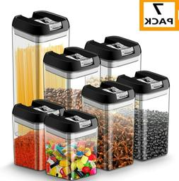 Airtight Food Storage Container Set - 7 PC Set - Labels & Ma