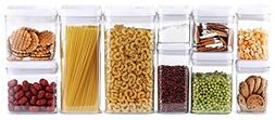10-Piece Airtight Food Storage Container Set, Pantry Organiz