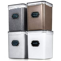 Large Airtight Food Storage Containers - Estmoon Cereal Stor