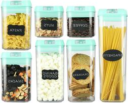 Airtight Food Storage Containers–7 pc Set - BPA Free Plast