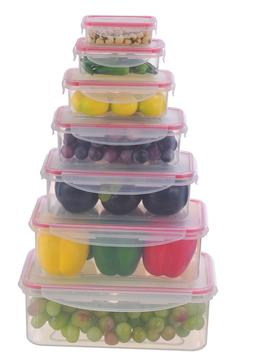 Airtight Food Storage Plastic Containers with Lids Set of 7