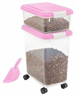 IRIS 3- Piece Airtight Pet Food Storage Container Combo, Dar