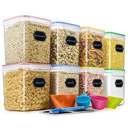 Airtight Set of 8 Cereal & Dry Food Storage Container  + 4 M