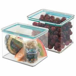 mDesign Airtight Stackable Food Storage Container, 2 Quarts