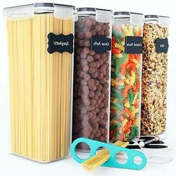 Airtight Tall Food Storage Container Set - Ideal for Spaghet