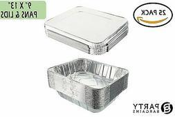 Aluminum Foil Pans | Disposable Pan Containers with Lids Set