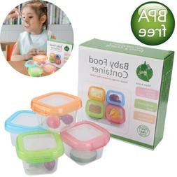 Baby Food Storage Containers   Set of 4   4 oz Baby Food Jar