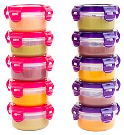 Elacra Baby Food Storage Small Plastic Containers - Freezer