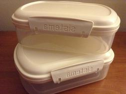 Sistema Bake It Food Storage Stackable Containers SET of 2,